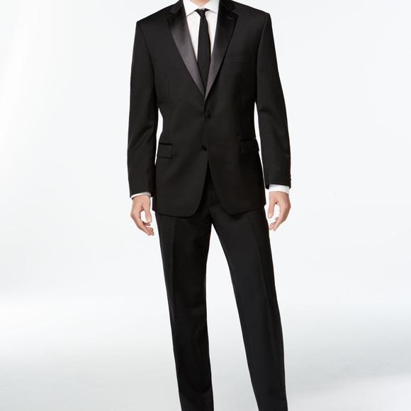 Calvin Klein Other - Calvin Klein Slim Fit Tuxedo with Tie and Bow Tie